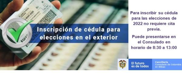 Conozca cómo inscribir su Cédula de Ciudadanía para las elecciones
