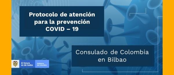 Consulado en Bilbao anuncia las medidas preventivas a causa del Coronavirus para las personas que viajen a Colombia