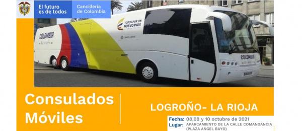 Jornada de Consulado Móvil en Logroño, La Rioja del 8 al 10 de octubre